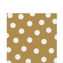 Gold Polka Dot Lunch Napkins 16ct