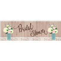 Giant Rustic Bridal Shower Banner