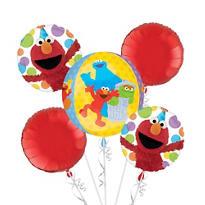 Sesame Street Balloon Bouquet 5pc - Orbz