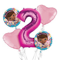 Doc McStuffins 2nd Birthday Balloon Bouquet 5pc