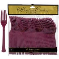 Berry Premium Plastic Forks 48ct
