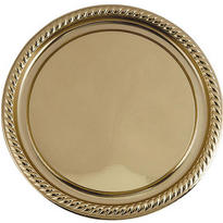 Gold Plastic Round Platter
