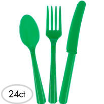 Festive Green Cutlery Set 24ct