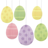 Hanging Honeycomb Easter Egg Decorations 5in 6ct