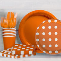 Orange Polka Dot Party Supplies