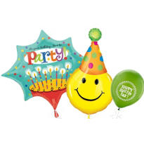 Perfect Time to Party Birthday Balloons
