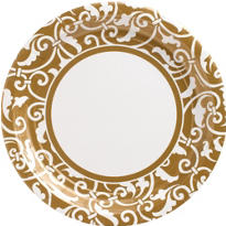 Gold Ornamental Scroll Party Supplies