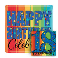 A Year To Celebrate 18th Birthday Party Supplies