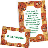 Custom Basketball Invitations & Thank You Notes