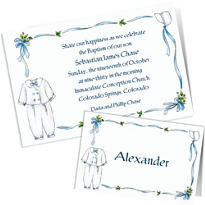 Custom Baptism Invitations & Thank You Notes