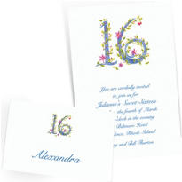 Custom Sweet 16 Invitations & Thank You Notes