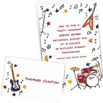 Custom 60s Theme Party Invitations & Thank You Notes