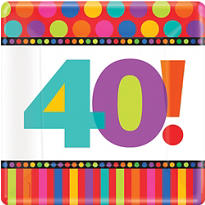 40th Birthday Dots & Stripes Party Supplies