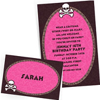 Custom Pretty in Pink Invitations & Thank You Notes