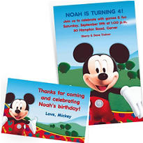 Custom Mickey Mouse Invitations & Thank You Notes