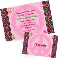 Custom Hippie Chick Invitations & Thank You Notes