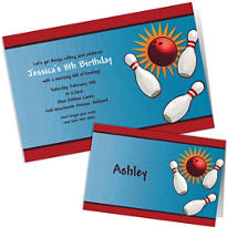 Custom It's A Strike Bowling Invitations & Thank You Notes