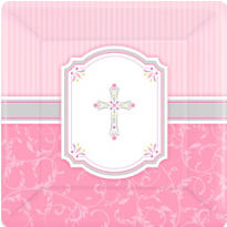 Girl's Frist Communion Blessings Party Supplies