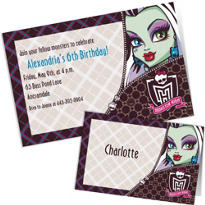 Custom Monster High Invitations & Thank You Notes
