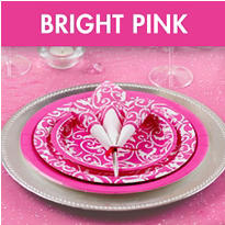 Bright Pink Bridal Shower Supplies