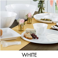 White Serving Trays, Bowls & Utensils