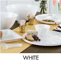 White Serving Trays, Bowls & Utensils