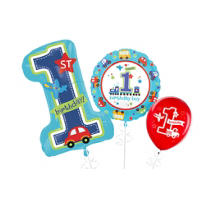 All Aboard 1st Birthday Balloons