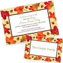 Custom Fall Invitations & Thank You Notes