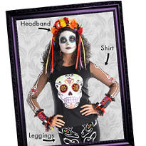 Day of the Dead Mix & Match Women's Looks