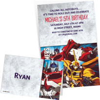 Custom Transformers Invitations & Thank You Notes