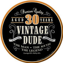 Vintage Dude 30th Birthday Party Supplies