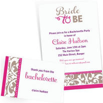 Custom Classic Bride Invitations & Thank You Notes