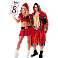 Everlast Ring Girl and Everlast Boxer Couples Costumes