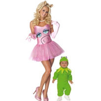 Kermit and Miss Piggy The Muppets Mommy and Me Costumes
