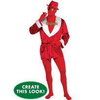 Adult HoHoHo Cool Dude Morphsuit Costume Set