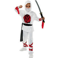Boys White Ninja Costume