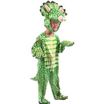 Toddler Boys Green Triceratops Costume