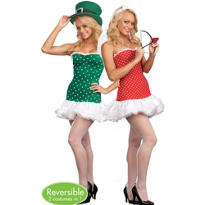Adult Struck by Luck Reversible Cupid and Leprechaun Costume