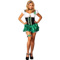 Adult Good Luck Charm Leprechaun Costume Plus Size