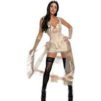 Adult White Dress Lilah Costume - Jonah Hex