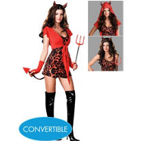 Adult Convertible Running with The Devil Costume