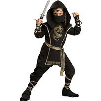 Boys Ninja Warrior Costume Elite