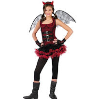 Girls Night Wing Devil Costume