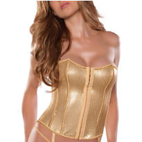 Moulin Rouge Gold Sequin Bustier