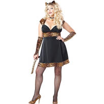 Adult Sexy Kitty Costume Plus Size - Cat