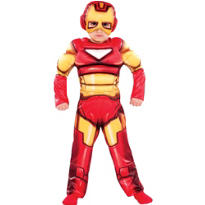 Toddler Boys Iron Man Muscle Costume