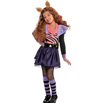 Girls Clawdeen Wolf Costume Deluxe - Monster High