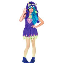 Teen Girls Gerty Growler Monster Costume