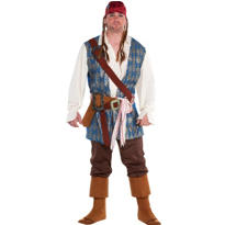 Adult Jack Sparrow Pirate Costume Plus Size
