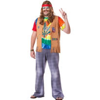 Adult Far Out Hippie Costume Plus Size